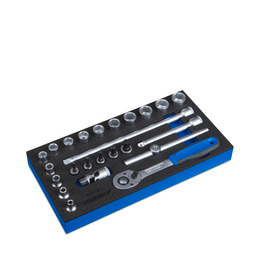 Gedore WE 3x6 Socket wrench set 3/8