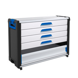 WorkMo 44-750 with 4 drawers & aluminium drop-down front