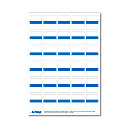 Labelling sticker inset box blue 1 sheet