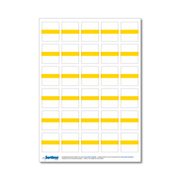 Adhesive labels for inset box 30 in number, yellow (1 sheet)