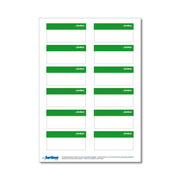 Labelling sticker SR light green 1 sheet
