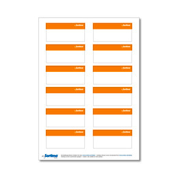 Labelling sticker SR orange 1 sheet