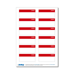 Labelling sticker SR red 1 sheet
